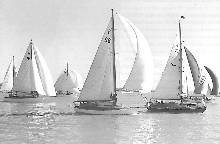 1956 start of the Auckland to Fiji Race hosted by Royal Akarana Yacht Club