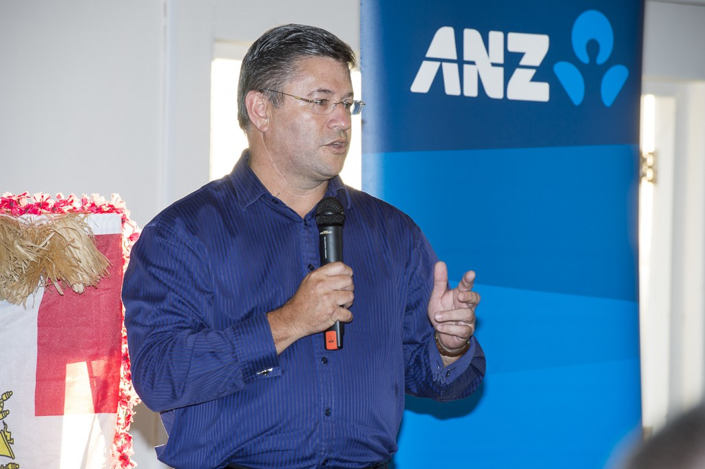 Alex Bentley (ANZ).  Auckland to Fiji Race seminar at the Royal Akarana Yacht Club. Auckland. 13/3/2014. Phot by Chris Cameron
