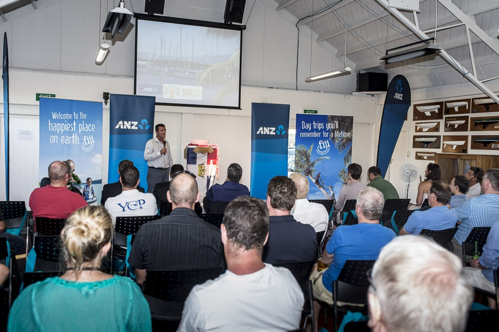 Nigel Skeggs.  Auckland to Fiji Race seminar at the Royal Akarana Yacht Club. Auckland. 13/3/2014.  Photo by Chris Cameron